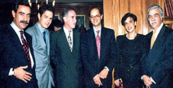 De izquierda a derecha: José Fernando Castro Caycedo, Germán Vargas Lleras, Gustavo Castro Caycedo, Enrique Vargas Lleras, Consuelo Castro Caycedo y Germán Castro Caycedo.