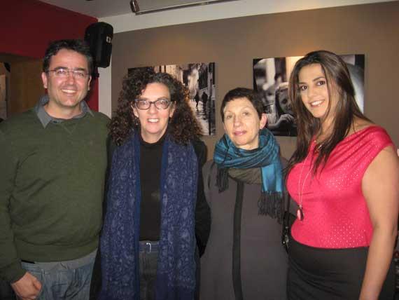 De izquierda a derecha: Kike Calvo, Alison Morley, Susan Nicholas y Malú Guaqueta.