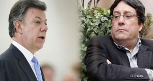 Juan Manuel Santos y Francisco Santos Calderón