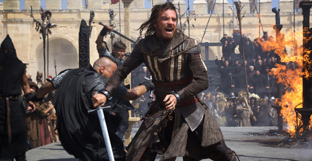 "Michael Fassbender  en una escena de ""Assassin's Creed"", en el papel de Cal Lynch. (Foto: Prensa-Fox)."