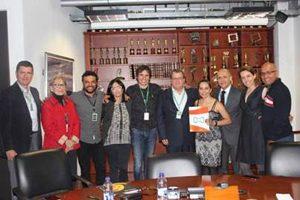 Acuerdo entre actores y canales de televisión. (Foto: Prensa-Canal RCN)