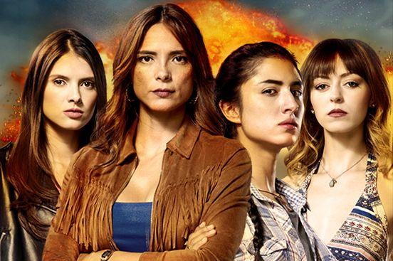 """""""La ley secreta"""": Valeria Galviz, Viña Machado, Juana del Río y Luna Baxter. (Foto: Prensa-Canal Caracol)."""